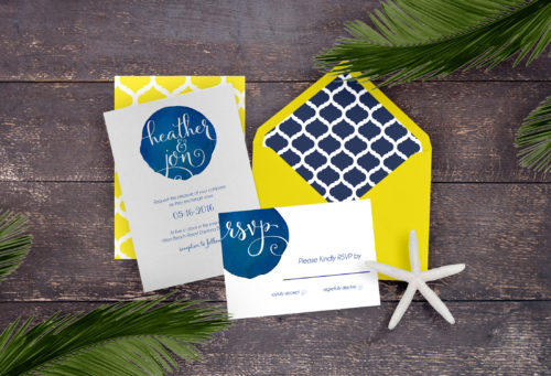 Daytona beach wedding invitations