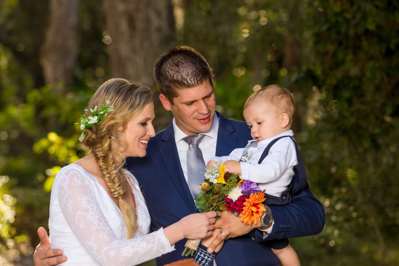Family formals after the wedding ceremony at sugar Mill Gardens in port Orange fl