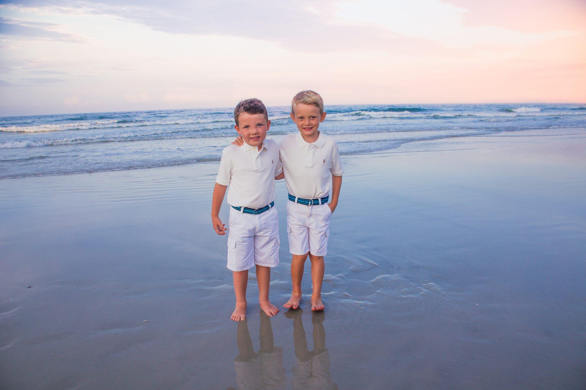 daytona beach photographer two brothers during sunset