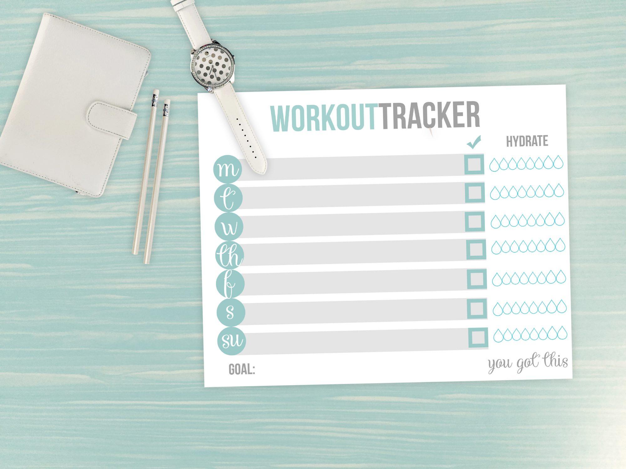 printable fitness tracker