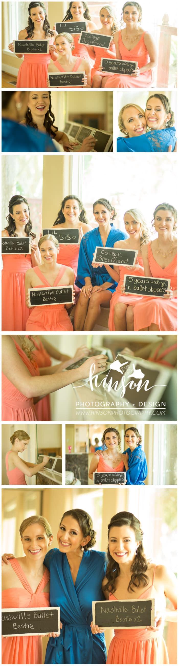 bridesmaids before picture wedding getting ready photo, bridesmaids chalkboard photo, daytona beach wedding photographer