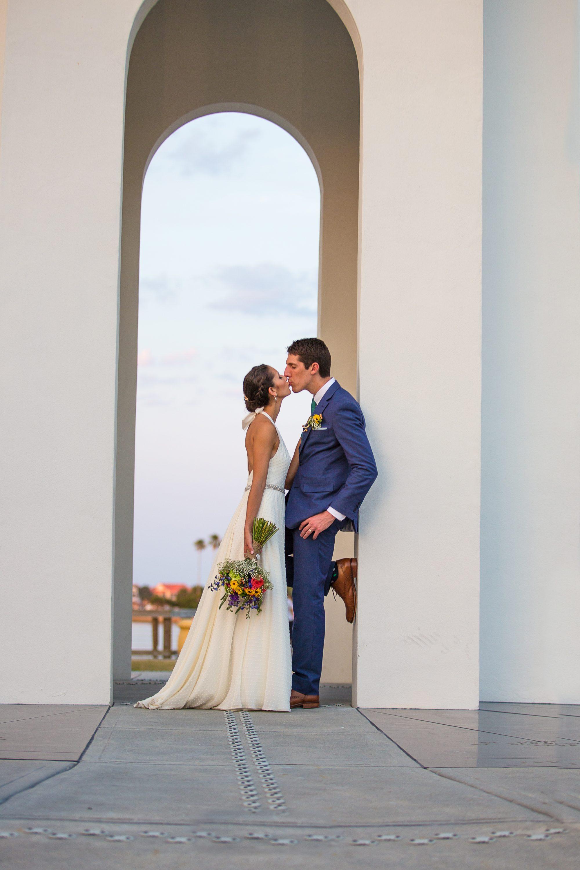 daytona beach photography, wedding portraiture, bridal portraits, bride and groom together, wedding day photos