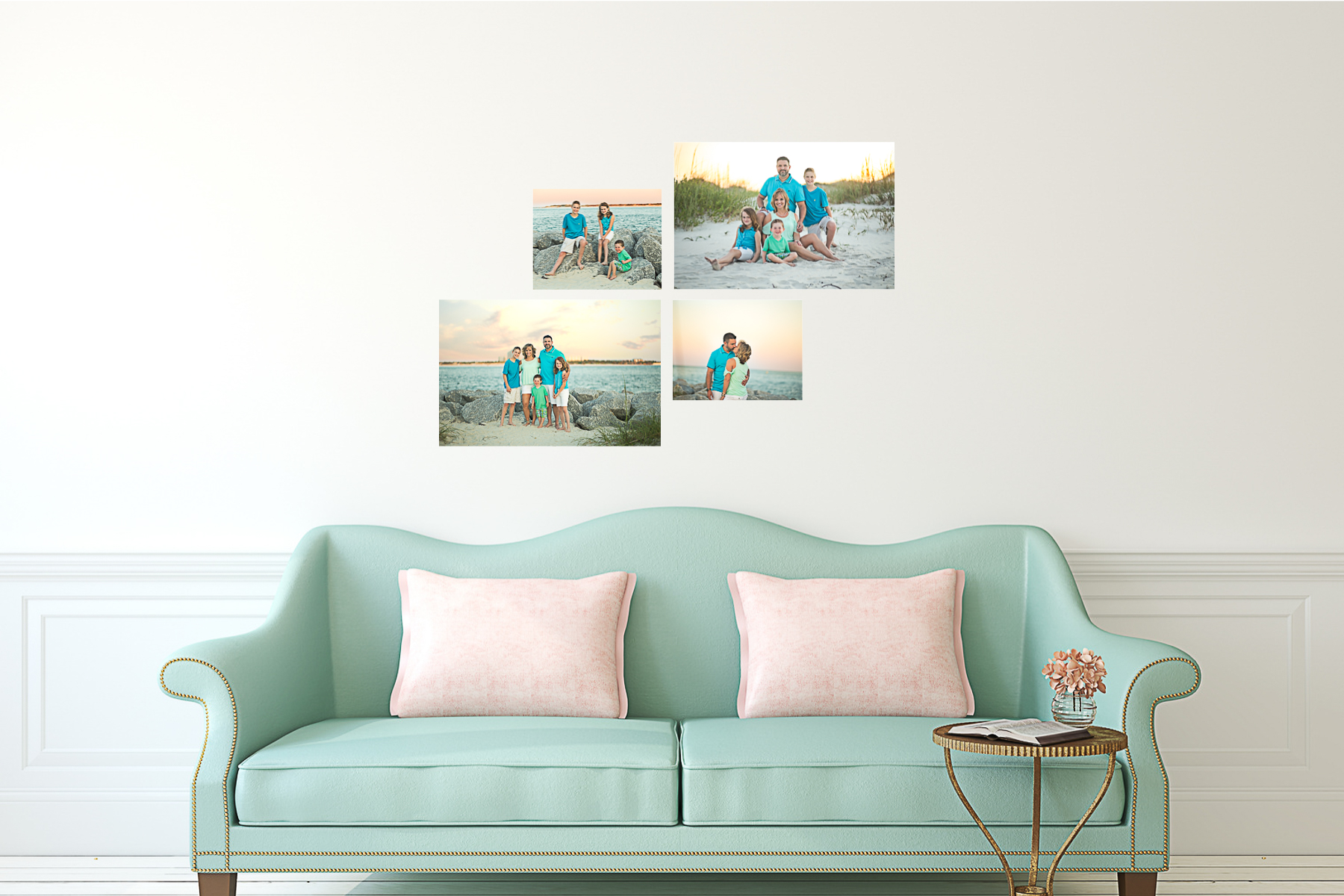 full service photographer, canvas cluster, gallery wrapped canvas, photography daytona beach, palm coast photographer, ponce inlet photography
