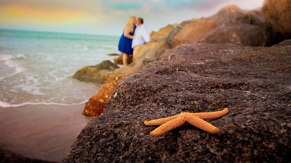 starfish beach photo, starfish, beach photography, florida beach photography, florida destination wedding, florida engagement session, florida proposal, orlando beach photography