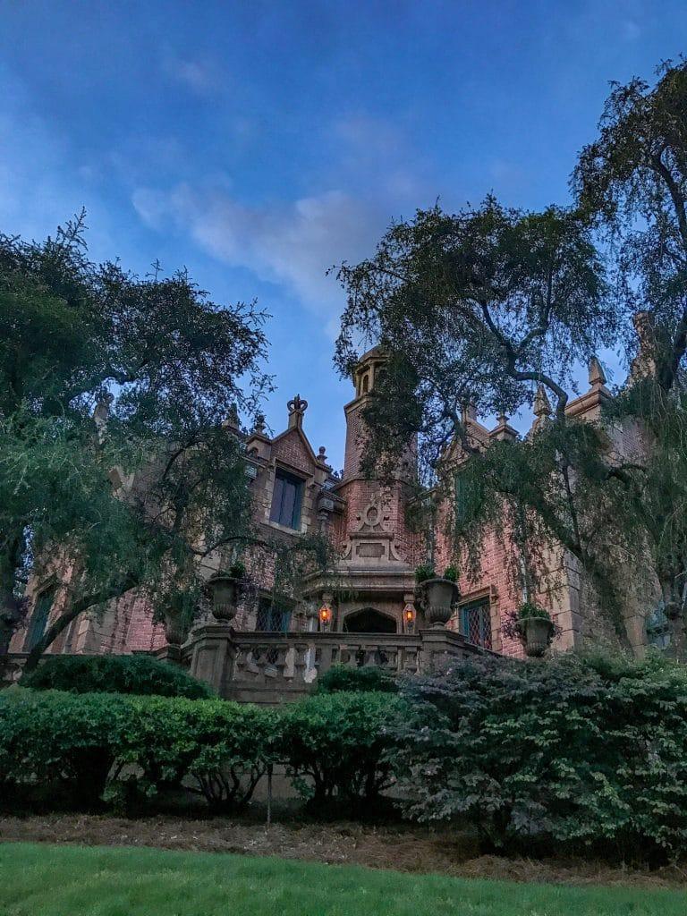 The Haunted Mansion ride at magic kingdom at Disney world in Orlando, Florida
