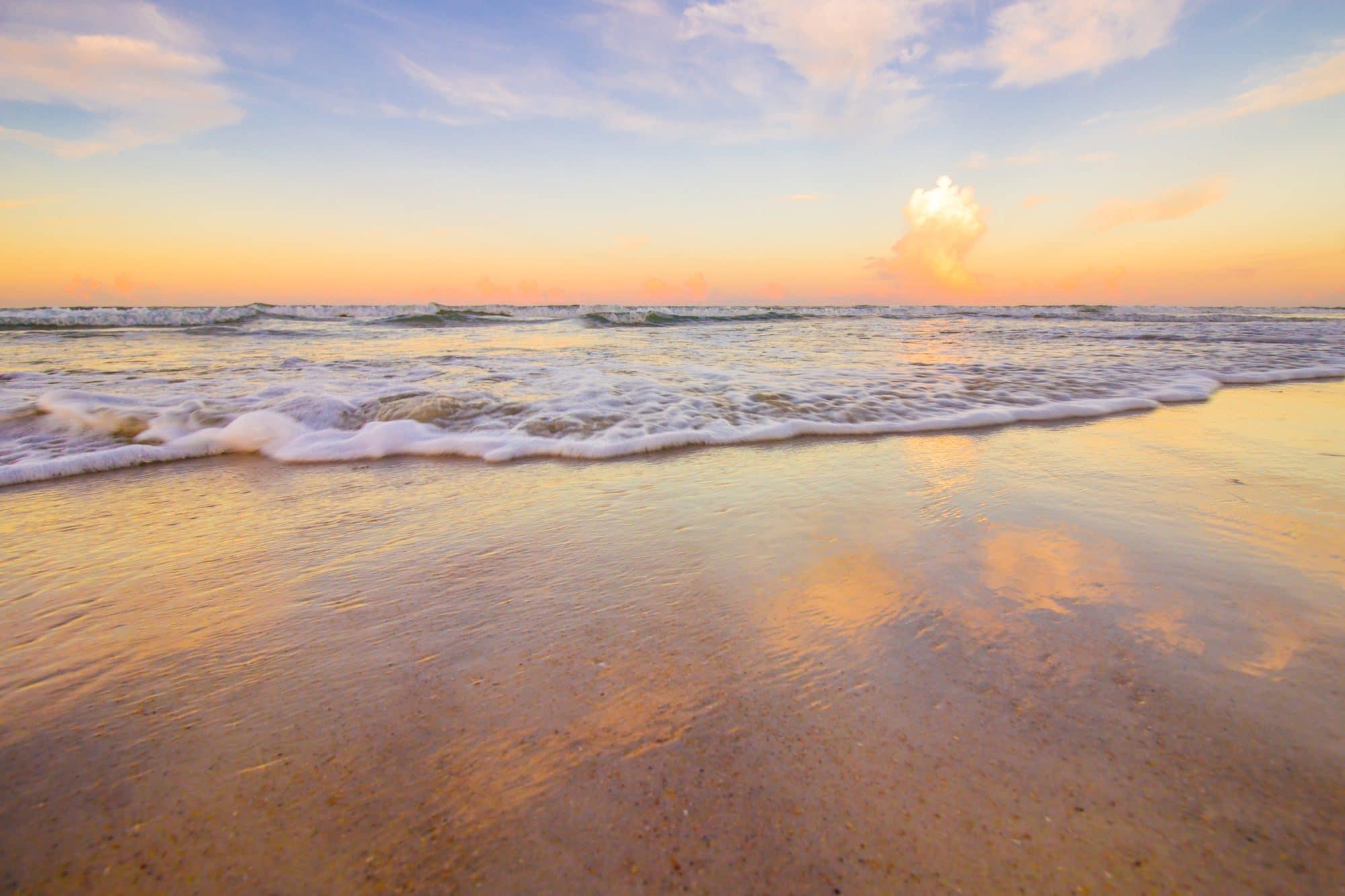 Beach photography in Daytona beach at sunset