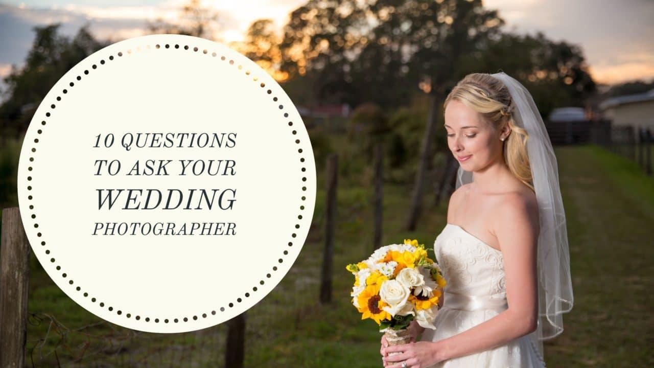 10 things to ask your Daytona beach wedding photographer