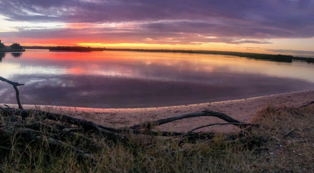 New Smyrna Beach sunset at Spruce Creek Park