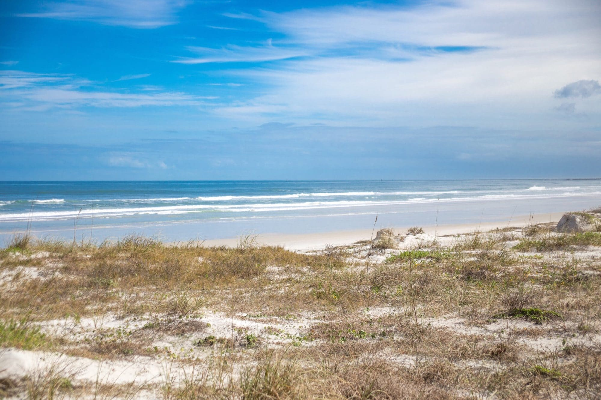 Ponce inlet beach in Florida