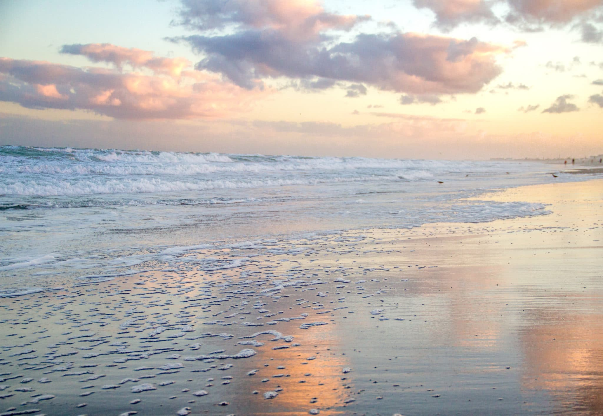 cocoa beach photography of sunset reflection in water