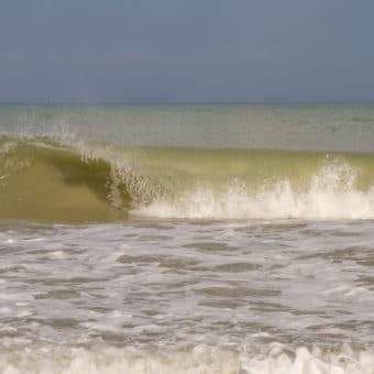 Waves crashing by vero beach photographer