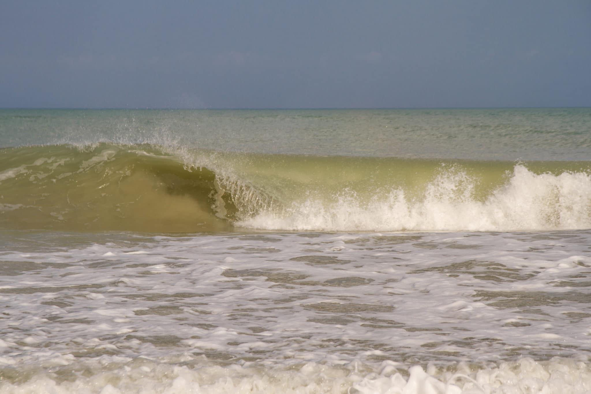 Waves crashing by vero beach photographer