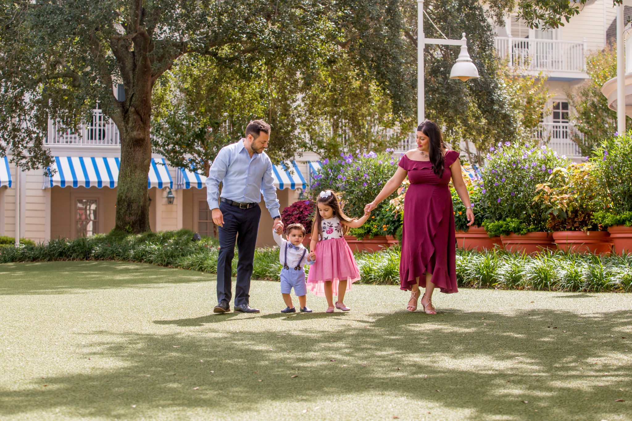 Orlando Disney photography session with a family at a Disney resort