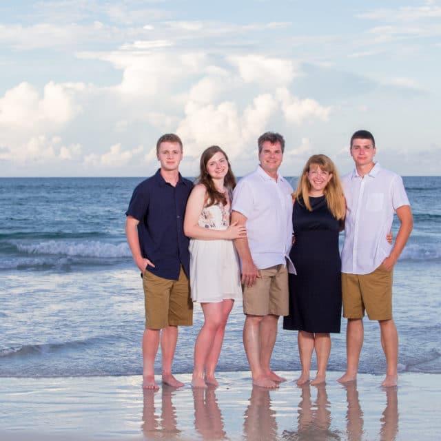 family beach photo in Florida by a family beach photographer