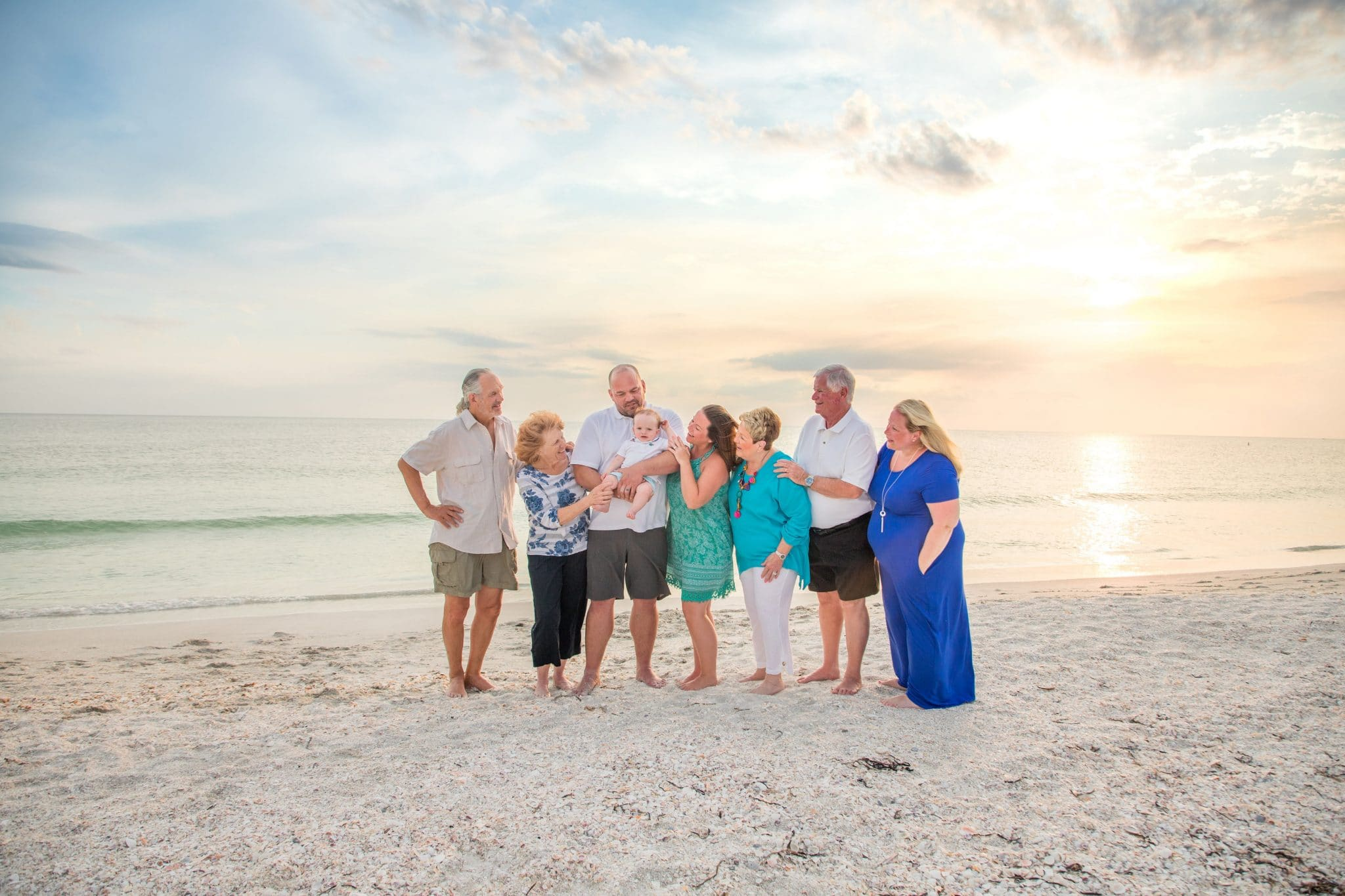 lido key photography beach session at sunset in sarasota fl